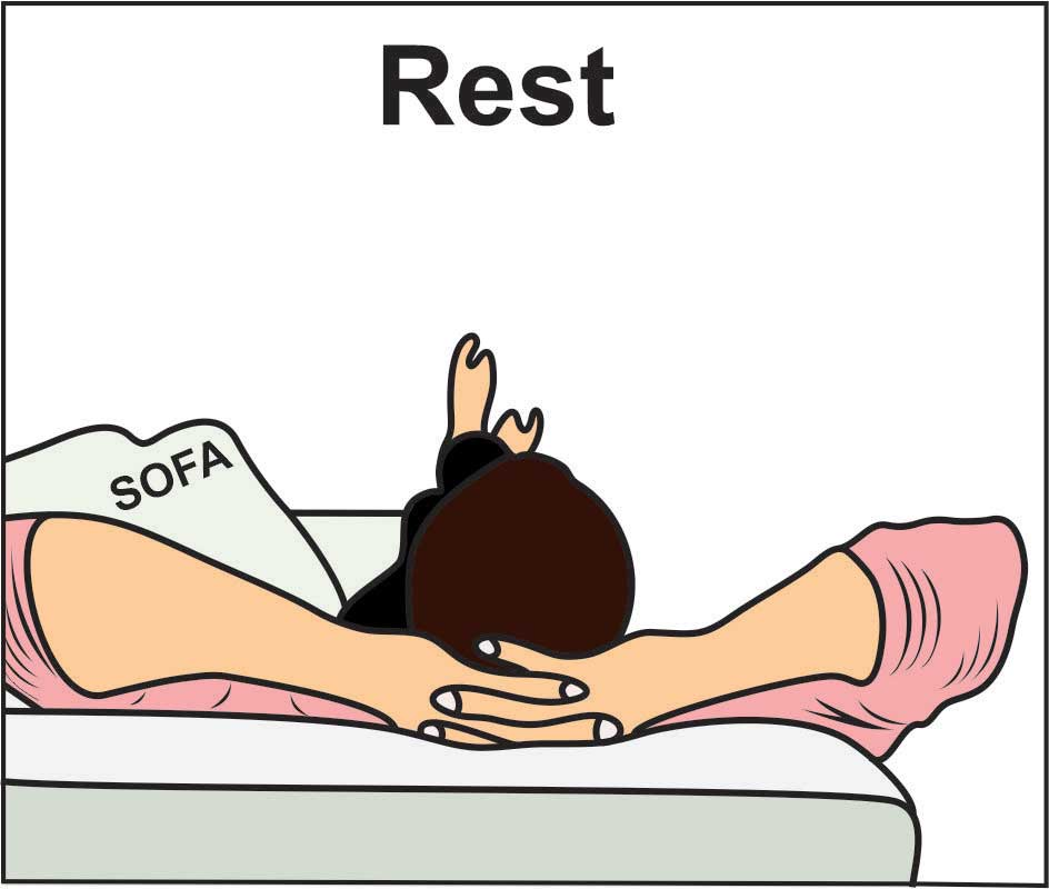 Image showing Rest in Rice method or Rice therapy